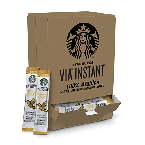 Starbucks VIA Instant Coffee Blonde Roast Packets - Veranda Blend - 1 Box (50 Packets)