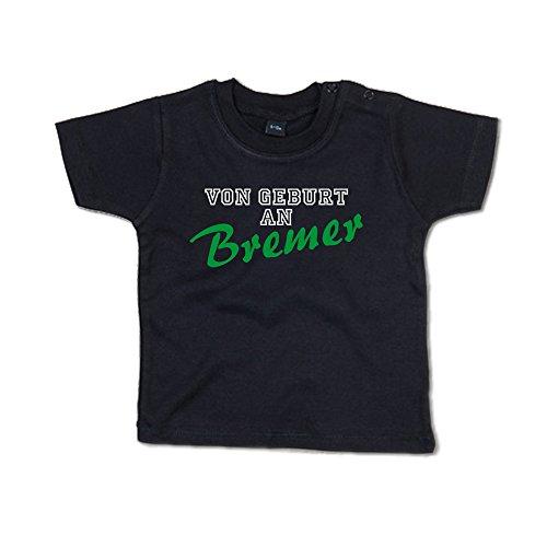 Von Geburt an Bremer Baby T-Shirt 266.0115 (12-18 Monate, schwarz)