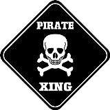 Dozili Señal de Cruz de Aluminio Estilo Pirata cruzando Estilo Metal Novedad Cartel de 12 Pulgadas x 12 Pulgadas