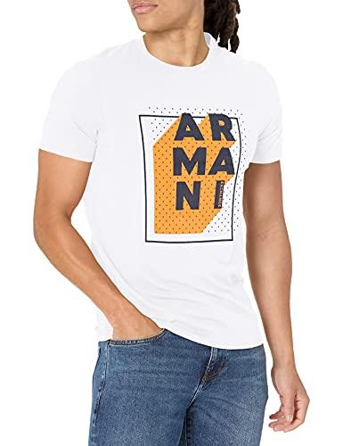 Armani Exchange Pop Art Logo T-Shirt Camiseta, Blanco, M para Hombre