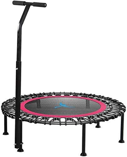 YANGYUAN 40' con silenciosa Mini trampolín con el apretón de Longitud Ajustable Adultos Niños Cubierta Gimnasio Rewind Puenting Entrenando (Color : Red)