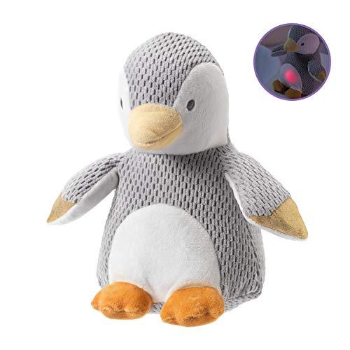 Nuby Schlafhilfe Pinguin, superweich, mit beruhigendem Sound und Licht für das Kinderzimmer