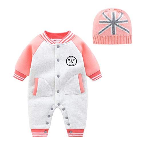 M & A Herbst und Winter Neugeborene Babykleidung niedlichen Kaninchenmuster doppelt gestrickten Overall Baby Boy Girl Strampler-h_3M