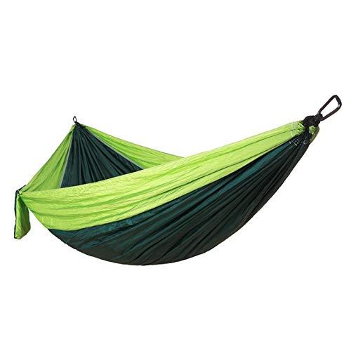 SALUTUYA Portátil Ultra Fuerte Ligero Colgante Hamaca Columpio Cama Hamaca Tela de paracaídas para Senderismo jardín Camping para Interior