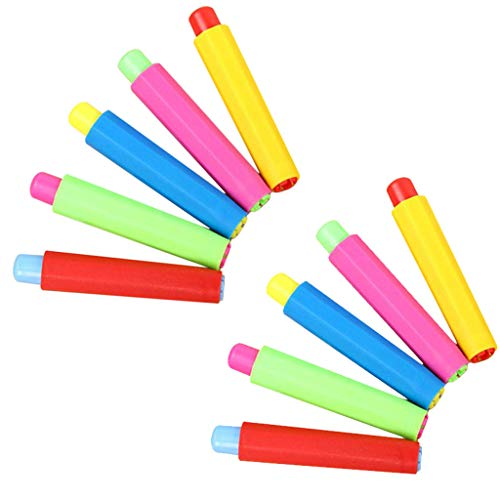 DAmeng Non-dirty Hand Plastic Chalk Cover Chalk Clip for Sidewalk Chalk for Teaching (Multicolor, 10PC)