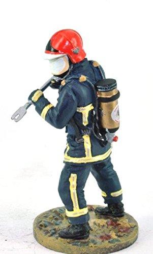 Del Prado Sammelfigur Feuerwehrmann Firefighter Figur Yvelines Frankreich 2004 1:32 ca. 7 cm Metall