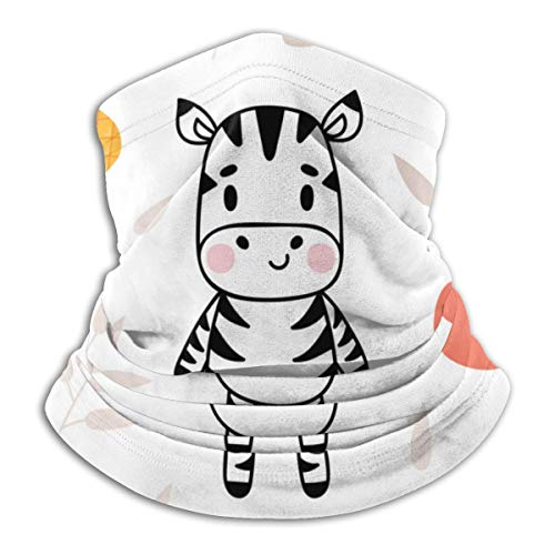 Leuk met een zachte zebra fleece nek warme heat trapping sun-proof nek gaiter tube soft elastisch balaclava half masker unisex windproof skinek gaiser cover voor winter skiing rond.