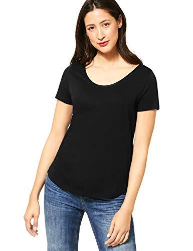 Street One Damen 314792 Gerda T-Shirt, Black, 42