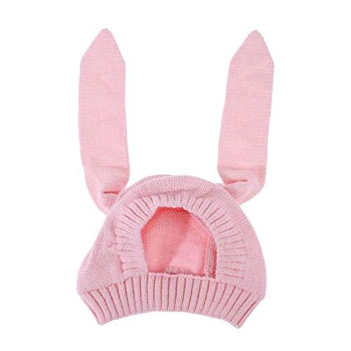 Toyvian Bebé Niños Niño Niña Punto Crochet Oreja de Conejo Gorro Gorro Invierno Cálido Gorras de Punto