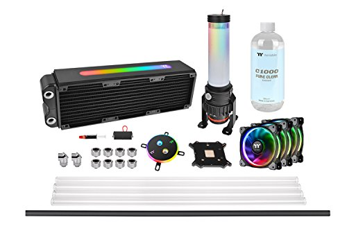 Thermaltake Pacific M360 Plus D5 Hard Tube Water Cooling Kit/Ventole e Sistemi di Raffreddamento Sistemi di Raffreddamento ad Acqua, Multicolore