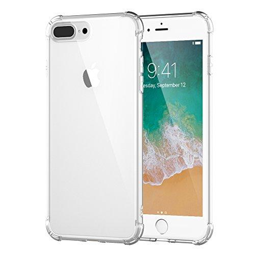 iPhone 7 Plus Case, iPhone 8 Plus Case, iPhone 7/8 Plus Crystal Clear Soft TPU Case Scratch-Resistant Shock Absorption Bumper Cover Case for iPhone 8 Plus/7 plus