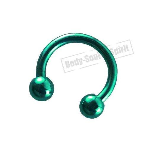 Fer de Cheval circulaire Turquoise 7mm Oreille Œil Lèvre Barbell rond Mamelon bijouterie