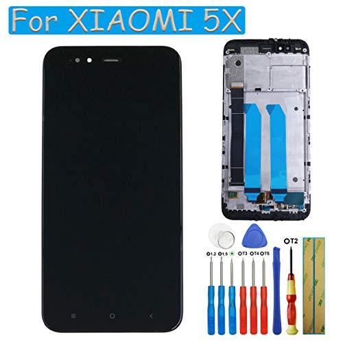 Schermo LCD di ricambio Compatibile con Xiaomi Mi 5X / Mi A1 MiA1 Display LCD Touchscreen Vetro nero + Cornice