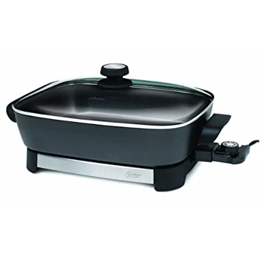 Oster Electric Skillet, 16 Inch, Black/Stainless Steel (CKSTSKFM05)