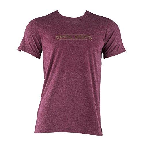Capital Sports Sportswear Trainings-T-Shirt L Herren Freizeit Sport-Shirt Rundhals (Kurzarm, für Männer, Größe: L) Maroon