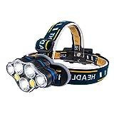 LED Stirnlampe USB Aufladbar mit SOS Rotlicht, Karrong Super Hell Leicht Wasserdicht Kopflampe, 8...