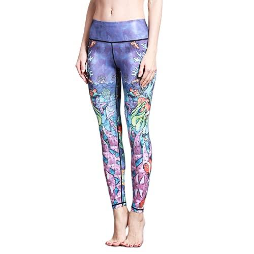 QTJY Pantalones de Yoga elásticos Suaves para Mujer, Cintura Alta, Deportes al Aire Libre, Pantalones de Fitness, Leggings de Ejercicio para Celulitis, B L