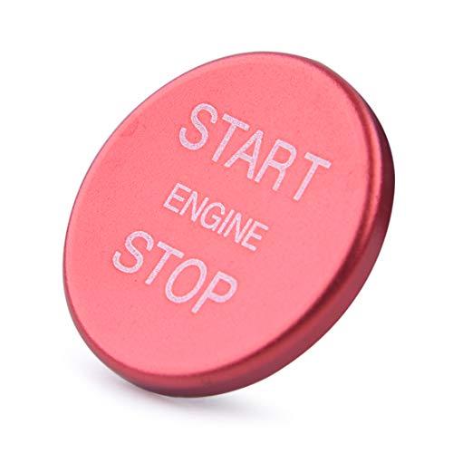 beler Arrêt de démarrage du moteur Interrupteur d'allumage Bouton poussoir Garniture de couvercle décoratif Rouge