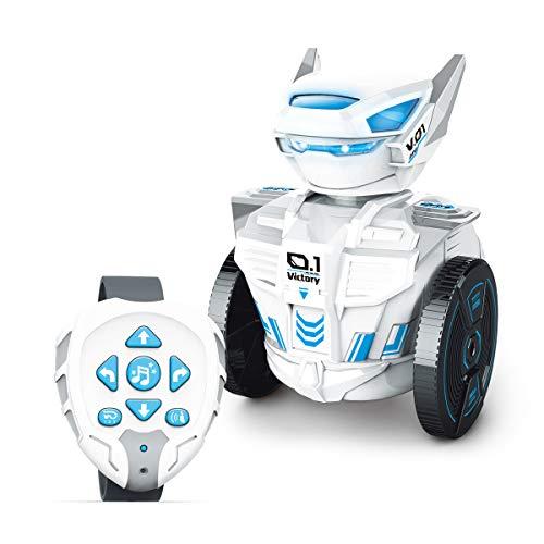 MKZDGM Kinderspielzeug Fernbedienungsroboter mit Uhr für Kinder Mint/STEM Lernroboter DIY-Zubehör Ferngesteuerter Roboter mit Handfernbedienung DIY-Spielzeug manuell