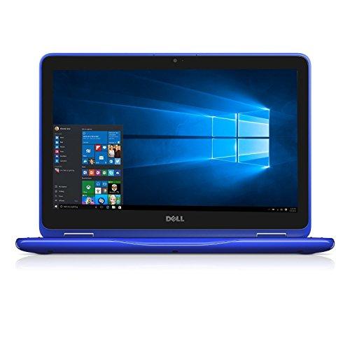 "Dell Inspiron 11.6"" HD Anti-glare Touchscreen Signature Edition 2-in-1 Laptop, Intel Celeron Dual Core Processor up to 2.48 GHz, 4GB RAM, 32GB SSD, Webcam, Bluetooth, Windows 10, Blue"