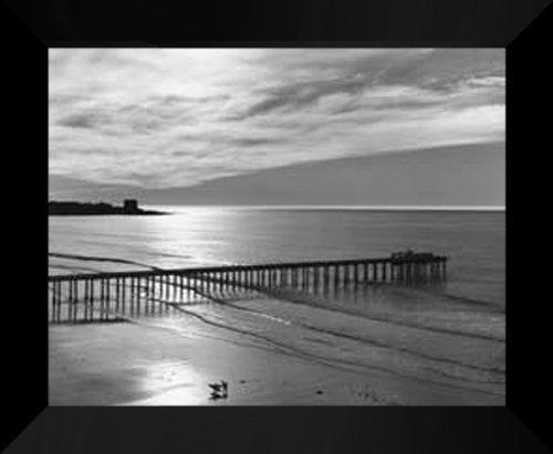 Ansel Adams FRAMED Art Print 20x24  Scripps Pier