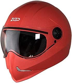 Steelbird SB-50 Adonis Zap Classic Full Face Helmet (Large 600 MM, Red with Plain Visor)