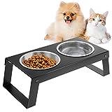 VavoPaw Cuenco de Acero Inoxidable para Perros Gatos, 430 ml por Cada...