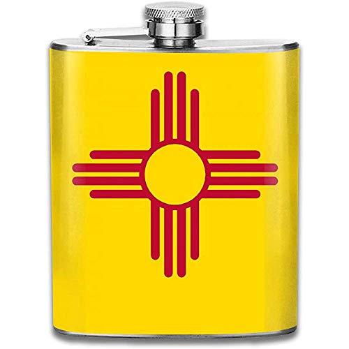 Flachmann Für Schnaps New Mexico Flag Durable Edelstahl Flachmann Flagon Auslaufsicher Flachmann Für Reisefischen Picknick
