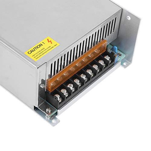 Controlador de fuente de alimentación Controlador de tira de luz LED Durable Alta eficiencia de trabajo para automatización industrial(S-1500-36 (36V/41.6A/1500W) AC170-250V, pink)