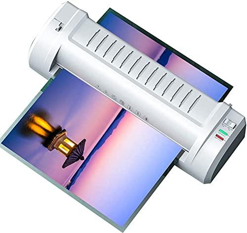 Laminador para A3 A4, Máquina laminadora Laminador silencioso profesional para hogar, escuela y oficina - Blanco (460x145x90mm)