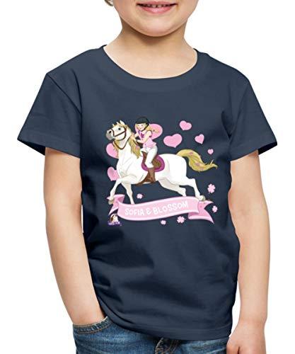 Schleich Horse Club Sofia & Blossom reiten aus Kinder Premium T-Shirt, 122-128, Navy