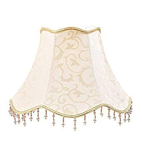 Amter Stoff Lampenschirm, Für Tischlampe Seidenlampenschirm Beleuchtung Zubehör Stehlampe Nachttischlampe Wohnzimmer Esszimmer Dekorativen Lampenschirm,Beige