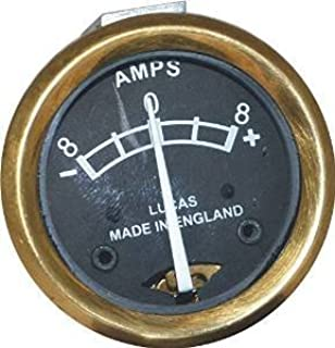 Vintage bike bsa Ammeter Replica Lucas Made in England 8 Amps 1 5/8