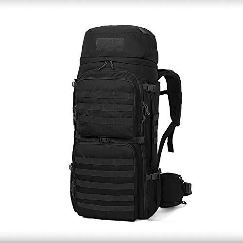 Mardingtop 50L/60L/75L Molle Hiking Internal Frame Backpacks with Rain Cover (6428-Black-55L)