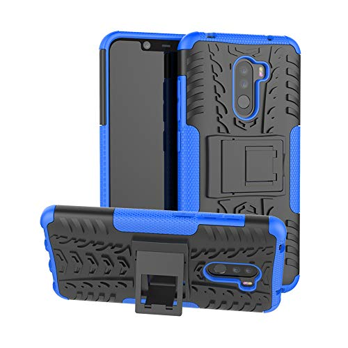 SCIMIN Xiaomi Pocophone F1 Case, Xiaomi Pocophone F1 Capa híbrida, proteção de camada dupla à prova de choque, capa híbrida robusta com suporte para Xiaomi Pocophone F1 de 6,18 polegadas