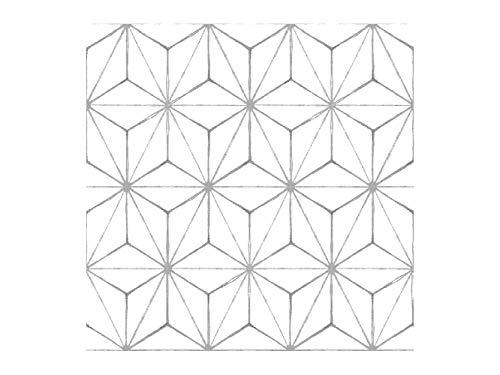 Oedim Vinilos Adhesivos para Suelo Figuras Geométricas Color Blanco, Vinilo Ecológico, Autoadhesivos para Decorar o Renovar. Suelo Mate.