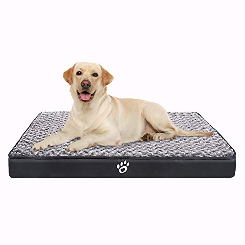 CLOUDZONE Orthopedic Dog Bed | Pet Bed Mattress with Removable Zipper Covers | Washable Dog Bed for Small/Medium/Large Dogs(XL/XXL/XXL)|Dog Crate Bed with Lining and Non-Slip Bottom