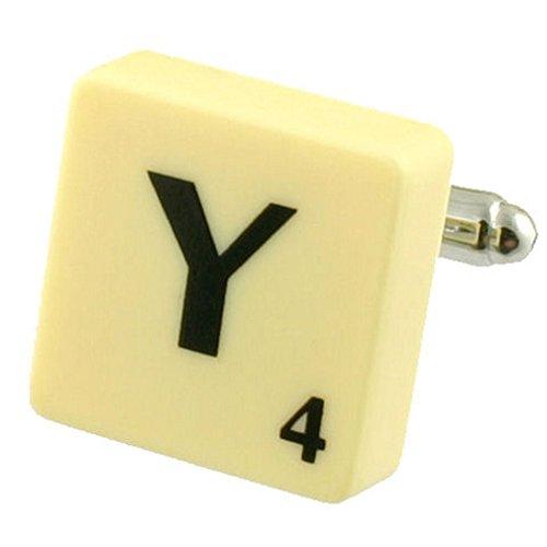Letra Y Scrabble gemelos (compre 2 para un Cuff Links) Seleccione bolsa de regalo
