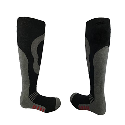 i-Smalls Jungen Packung mit 1 Thermal Ski Snowboard Socken (26.5-30.5) Schwarz/Rot