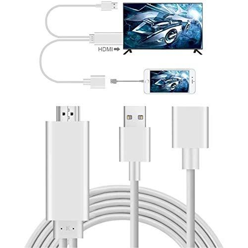 Phone a HDMI, AMANKA Full HD 1080P Mirroring Cavo Adattatore ad Phone MHL a HDMI HDTV, Compatibile con Phone 11/X/XR/XS/6/7/8,Samsung 6/7/9,Huawei P20/P30 Mate 20,Xiaomi 6