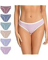 Molasus Womens Cotton Bikini Panties Soft Stretch Hi-Cut Tag Free Hispter Underwear Ladies Briefs Size 4