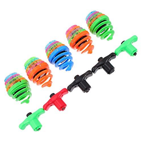 STOBOK 5 piezas LED Spinning Tops iluminan la música intermitente Spinning Tops novedad juguetes fiesta favores niños juguetes educativos