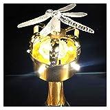 Cubo de hielo 14 Cubiertas de la botella de vino de la corona dorada de la flaneada Cubierta de la botella de la decoración del champán brillante de la lámpara de la lámpara de la bombilla del tapón d
