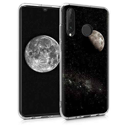 kwmobile Hülle kompatibel mit Huawei P30 Lite - Handyhülle - Handy Hülle Mond Hellgrau Schwarz