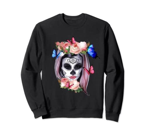 Dia De Los Muertos Sugar Skull Crneo Day Of The Dead Sudadera