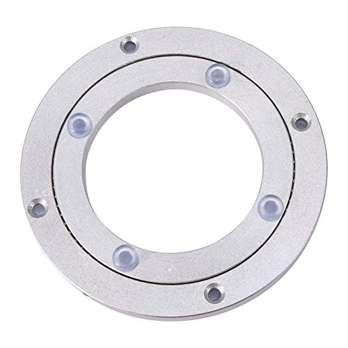Heavy Duty Aluminium Alloy Rotating Bearing Turntable Turntable Round Dining Table Smooth Swivel Plate for Kaleidoscopes Tabletop Serving Trade Show Displays(10 inchH8.5MM)