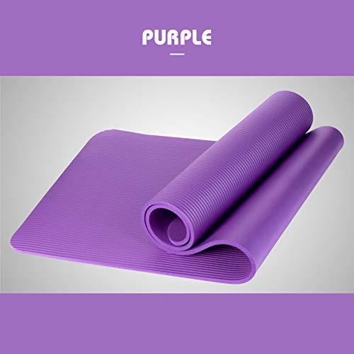 CWJCZY 1830 * 610 * 10 Mm Yoga Mat Workout Elastische Antislip Fitness Gymnastiek Matten Bag Carrier Dikke Knie Oefening Pad