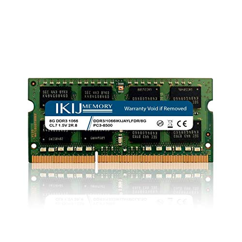 IKIJMEMORY DDR3 1067MHz/1066MHz PC3-8500 Compatible with MacBook,MacBook PRO,iMac Mini (Late 2008, Early 2009, Mid 2009, Late 2009, Mid 2010) (8GB)