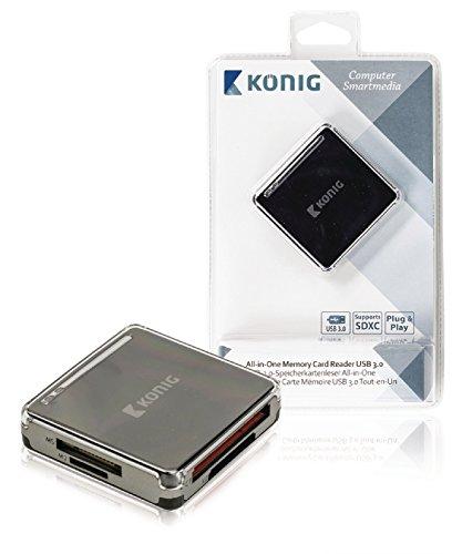 König CSU3ACR100BL All-in-one USB 3.0 geheugenkaartlezer