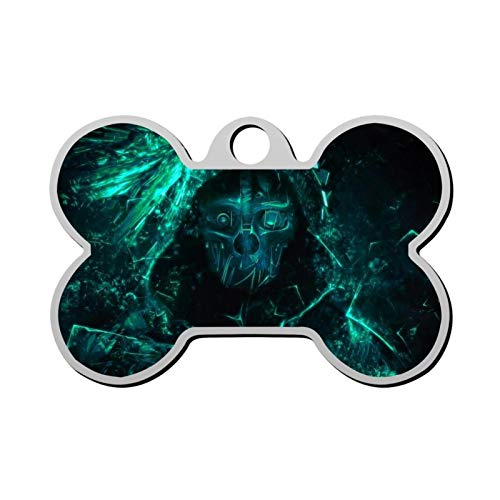 Pet ID Tag Cool Skeleton Personalized Bone Shaped Dog Tags & Cat Tags Identity with Double Sided Printed - DIY Custom
